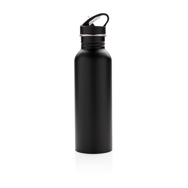 Deluxe aktivitás palack rozsdamentes acélból - Fekete