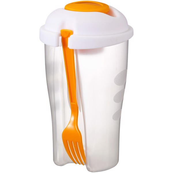 Shakey salad container set - Orange / Transparent