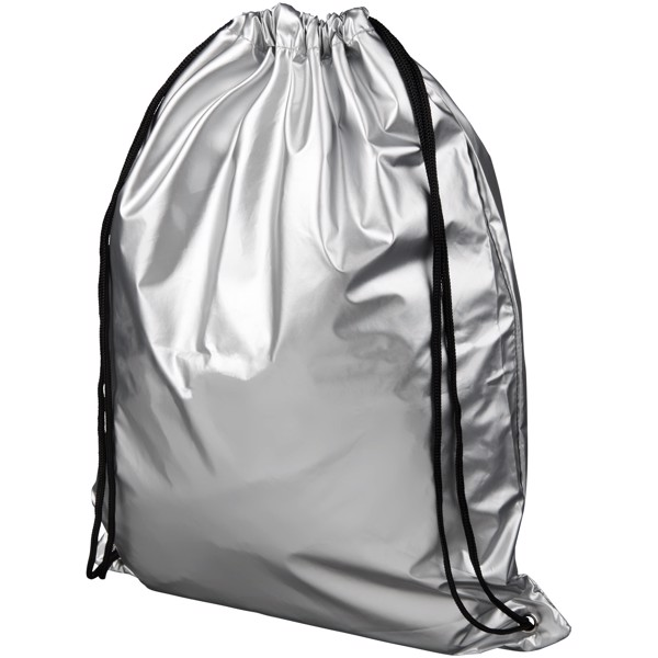 Oriole shiny drawstring backpack - Silver