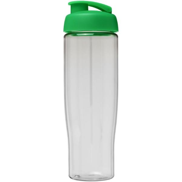 H2O Tempo® Bidón deportivo con Tapa Flip de 700 ml - Transparente / Verde
