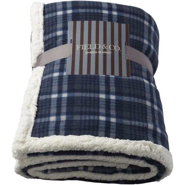 Joan sherpa plaid blanket - Blue