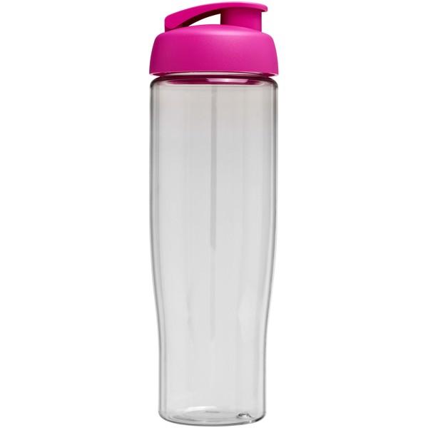 Sportovní láhev s vyklápěcím víčkem H2O Tempo® 700 ml - Průhledná / Růžová