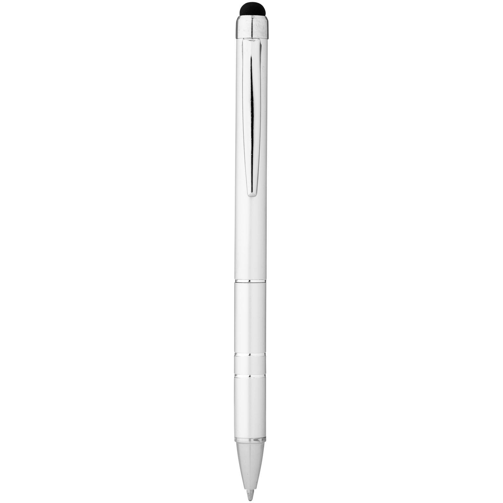 Charleston aluminium stylus ballpoint pen - Silver