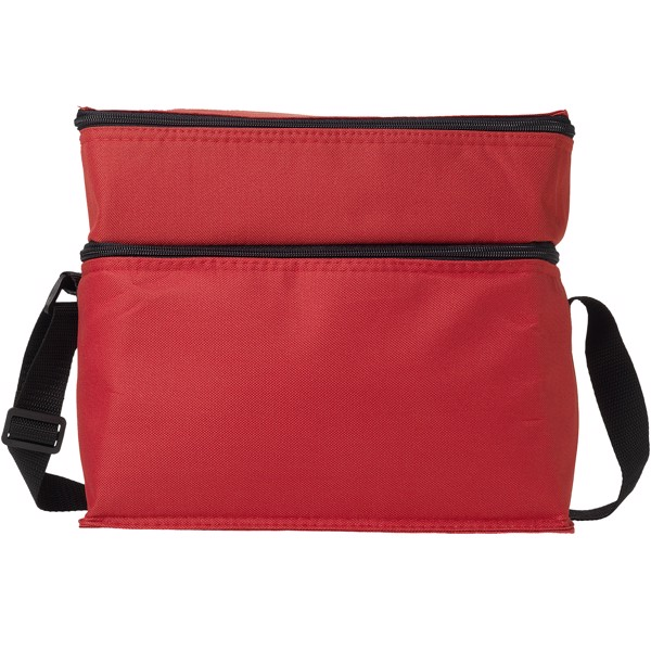 Oslo 2-zippered compartments cooler bag - Red
