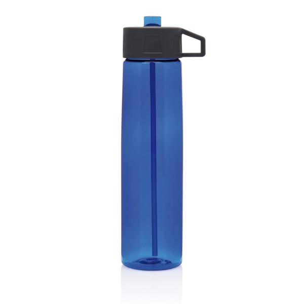 Tritanová lahev sbrčkem - Modrá / Šedá