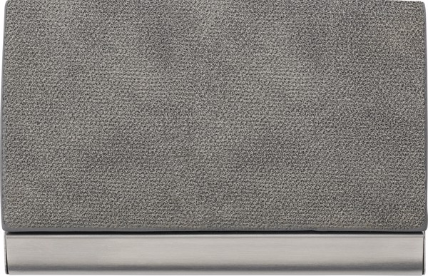 PU and stainless steel business card holder - Grey