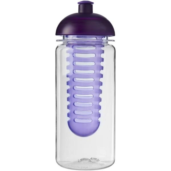 Láhev s infuzérem a kupolovitým víčkem Octave Tritan™ 600 ml - Průhledná / Purpurová