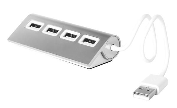 Usb Hub Weeper - Stříbrná / Bílá