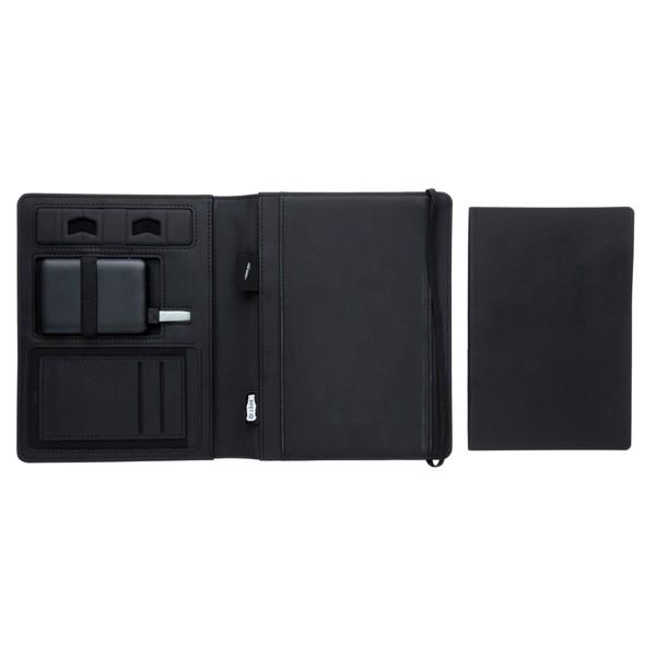 Air 5W-os vezeték nélküli töltős füzet 5000 mAh powerbankkel - Fekete