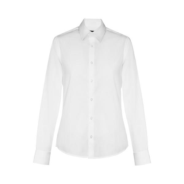 BATALHA WOMEN. Γυναικείο πουκάμισο ποπλίν - Λευκό / S