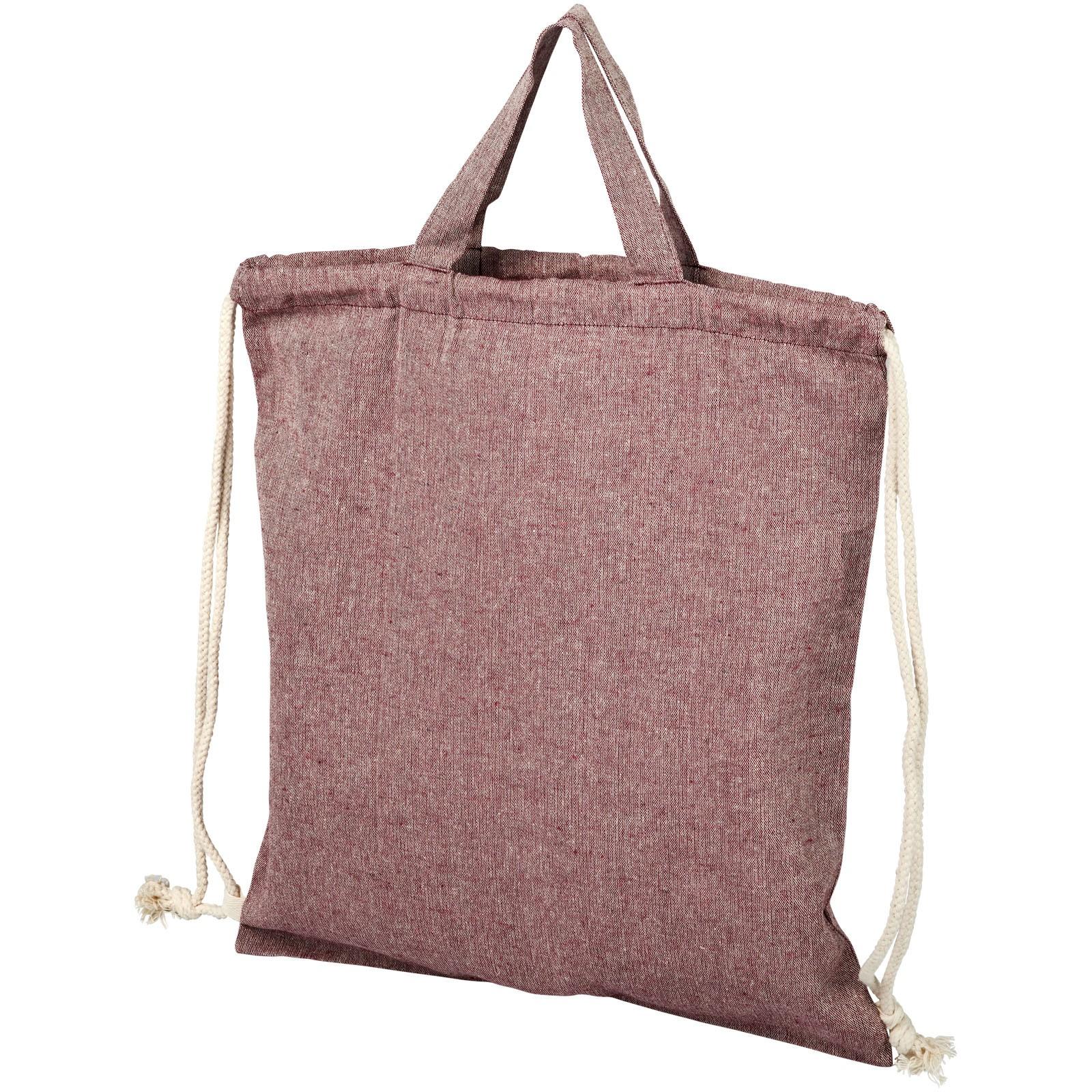 Pheebs batoh se stahovací šňůrkou ze směsi recyklované bavlny a polyesteru 150 g/m² - Heather maroon