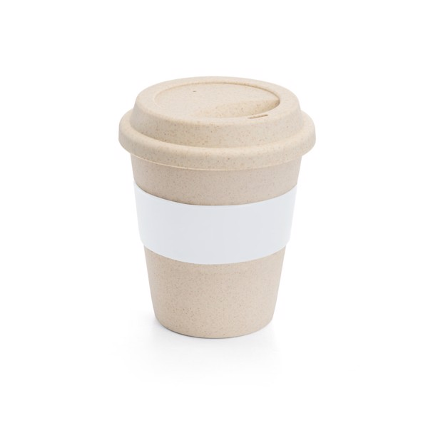 LATTE. Travel cup with lid 380 ml - White