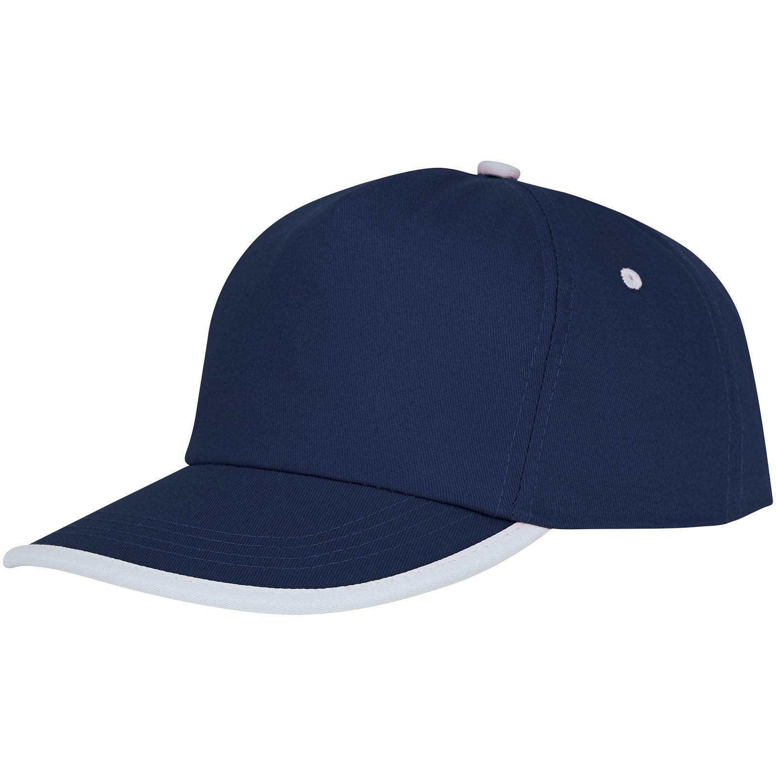 Nestor 5panelová čepice s kontrastní linkou - Navy / Bílá