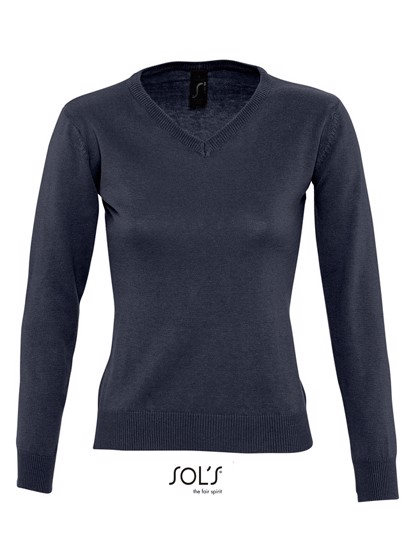 Women`S V Neck Sweater Galaxy - Navy / XL