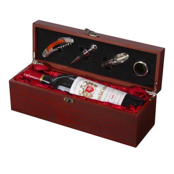 Skrzynka na wino z akcesoriami Angers