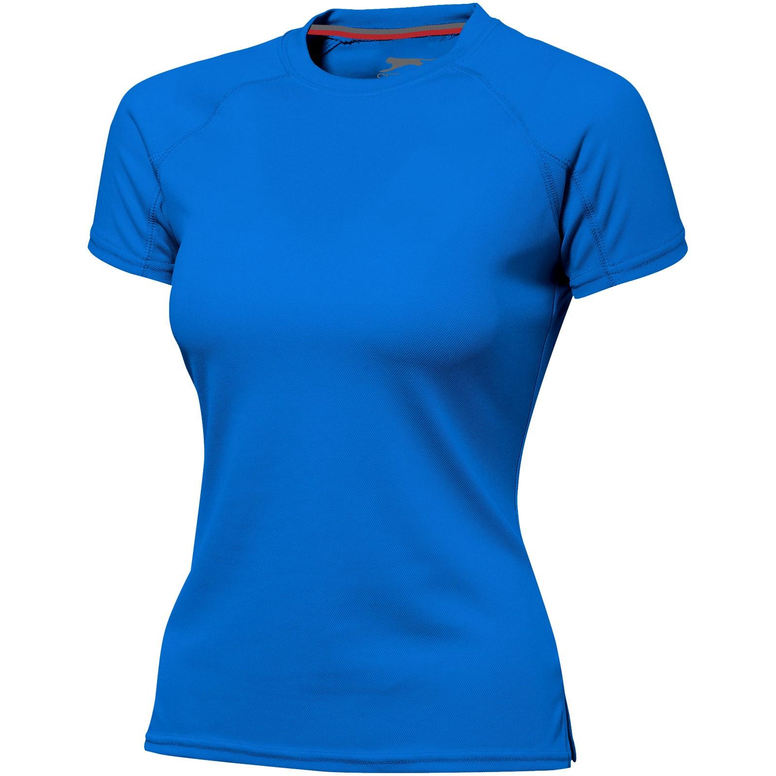 Dámské triko Serve s krátkým rukávem, s povrchovou úpravou - Sky Blue / XXL