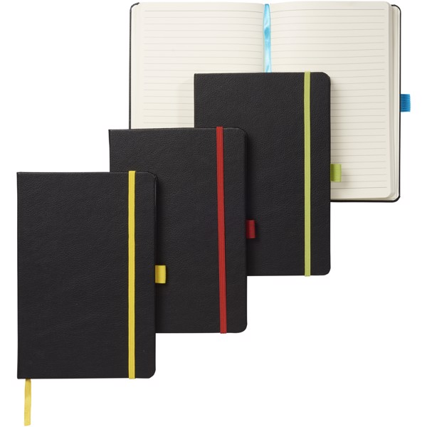 Lasercut A5 notebook - Solid Black / Red