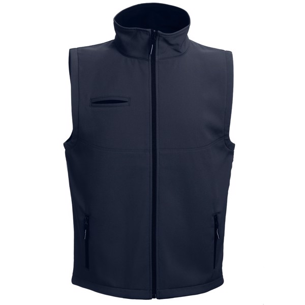 THC BAKU. Unisex softshellová vesta - Námořnická Modrá / XXL
