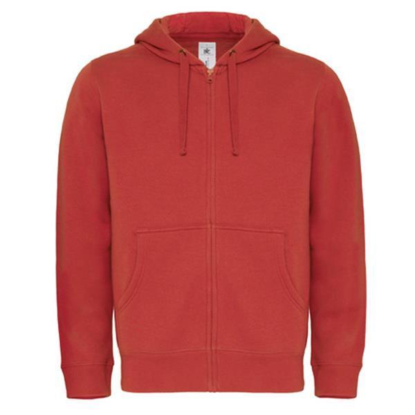 Hooded Full Zip - Red / 2XL
