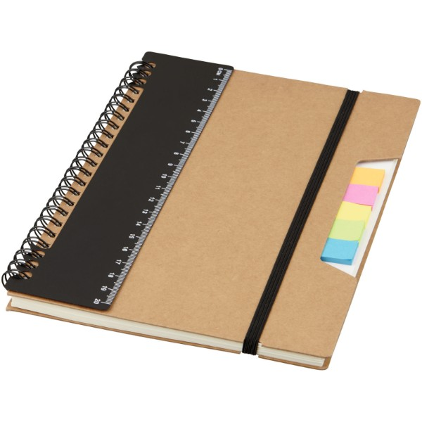 Josie A5 recycled notebook - Solid black