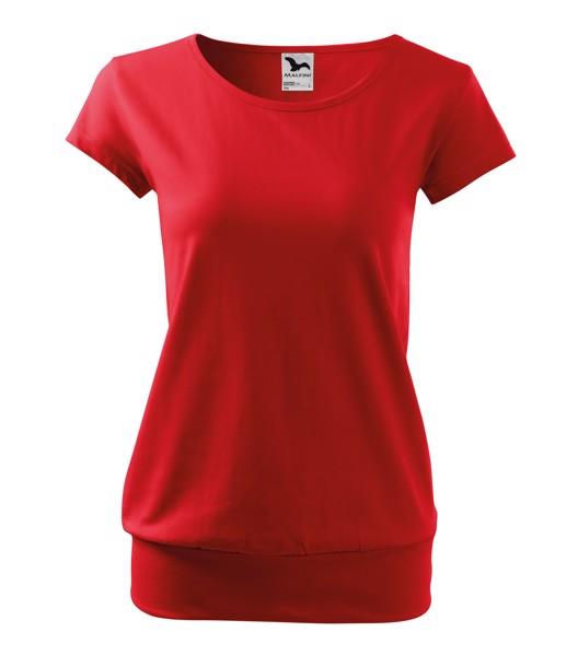 Tričko dámské Malfini City - Červená / S