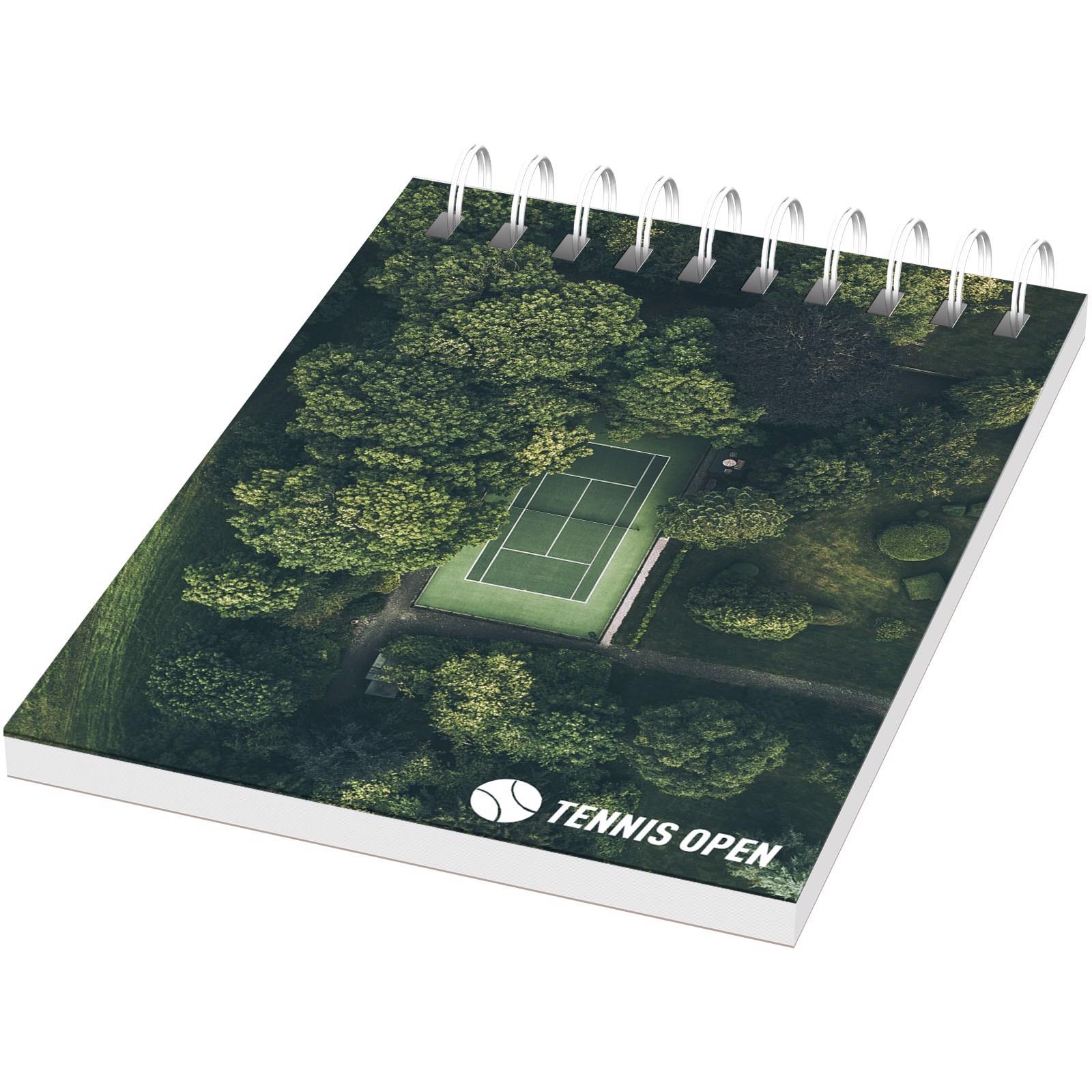 Poznámkový blok Desk-Mate® wire-o A7 - Bílá / 50 pages