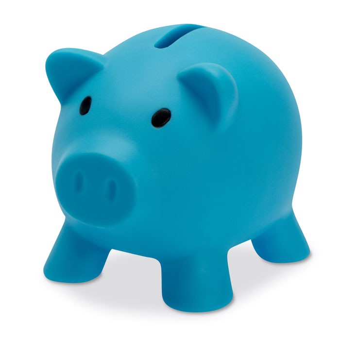 Piggy bank Softco - Turquoise