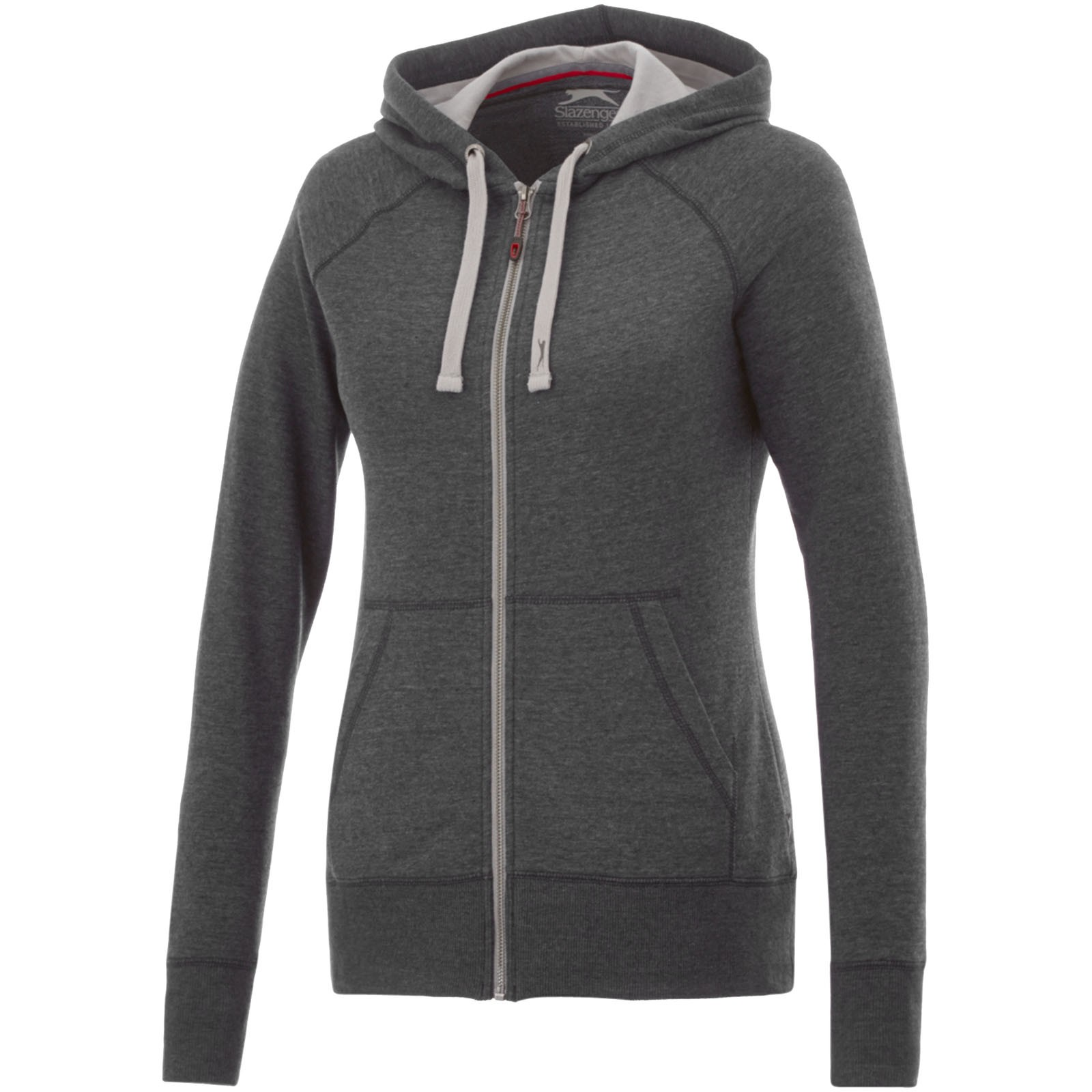 Groundie full zip ladies hoodie - Heather smoke / XS