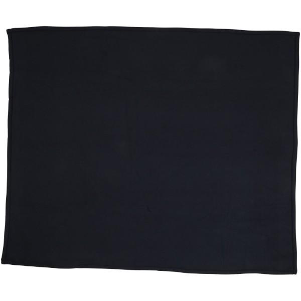 Pléd Springwood z měkkého materiálu fleece a sherpa - Navy / Krémově bílá