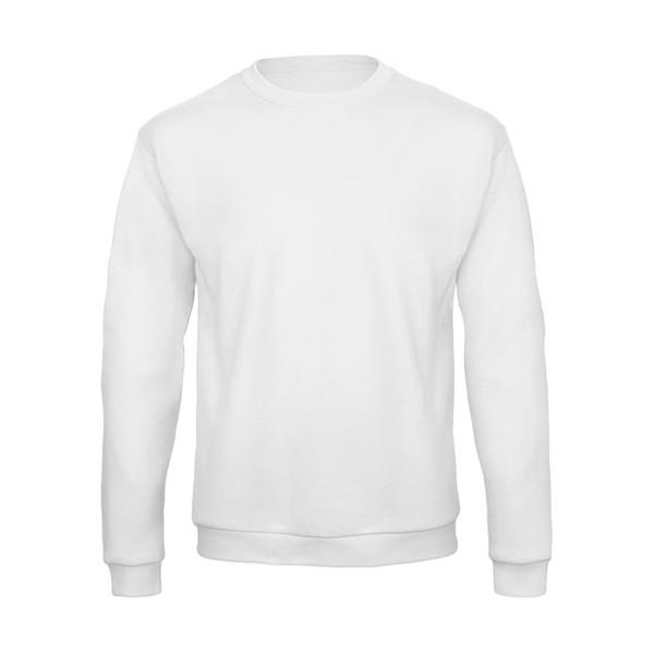 Sweatshirt Unisex Id.202 50/50 Sweatshirt Unisex - White / XS