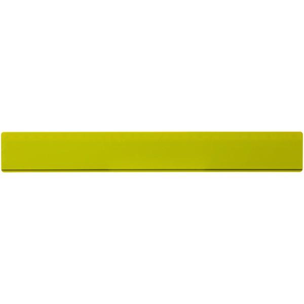 Renzo 30 cm plastic ruler - Lime