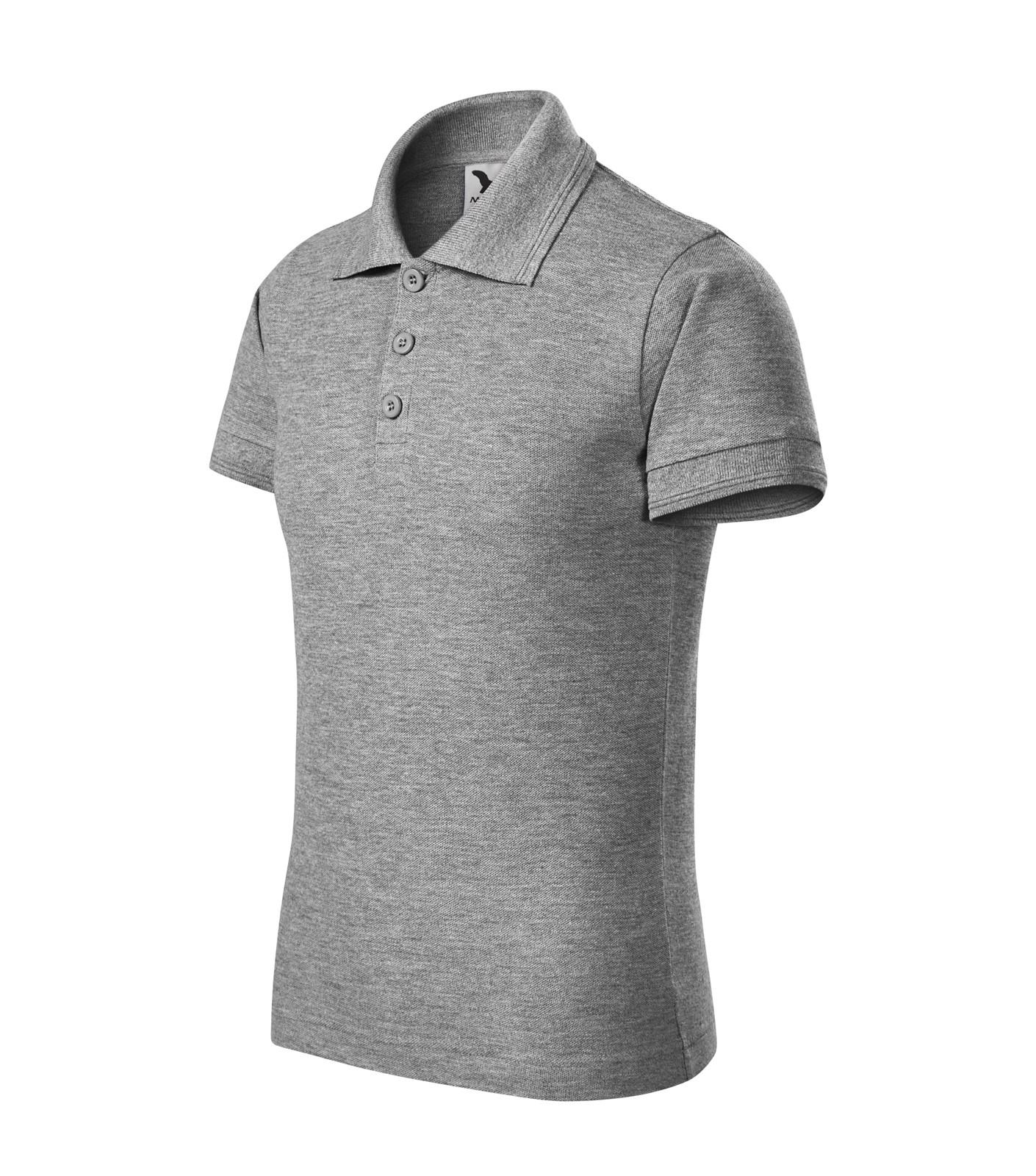 Polo Shirt Kids Malfini Pique Polo - Dark Gray Melange / 12 years
