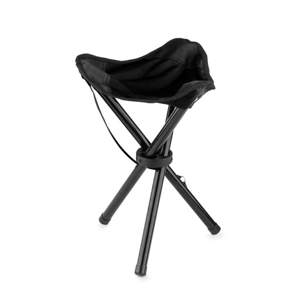 Összecsukható kempingszék Pesca Seat - fekete