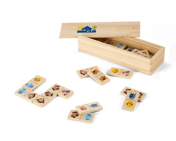 DOMIN. Juego de dominó de madera