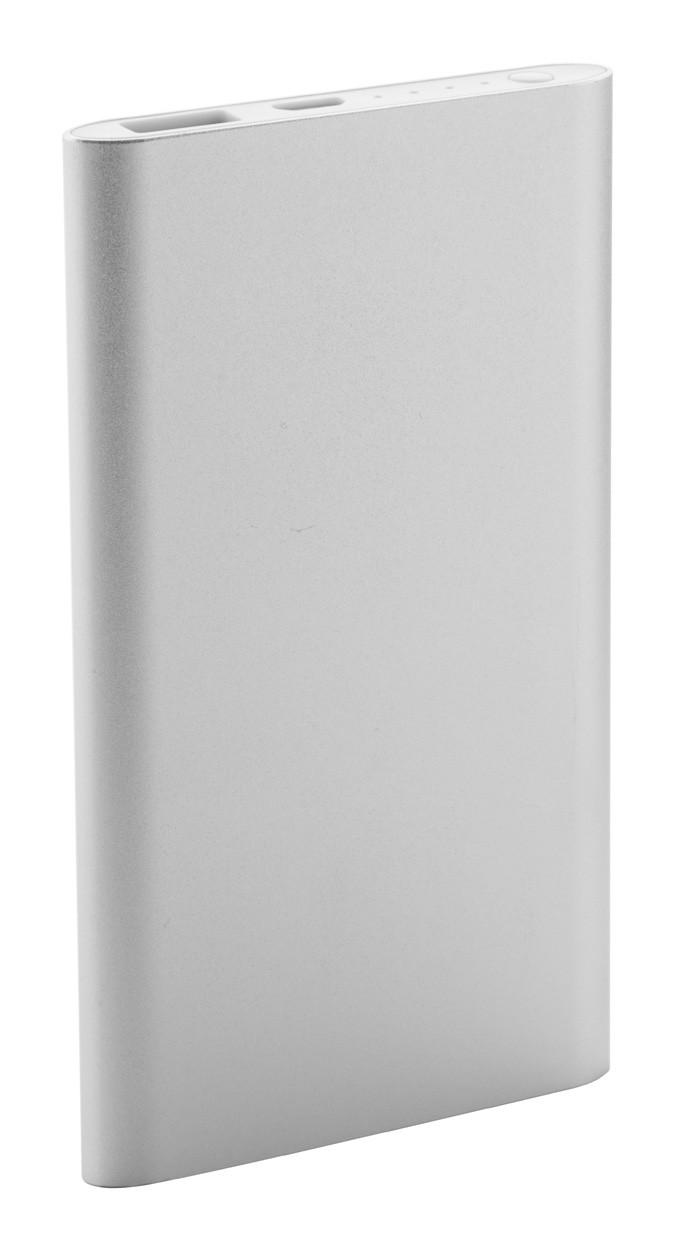 Usb Power Banka Wilkes - Stříbrná / Bílá