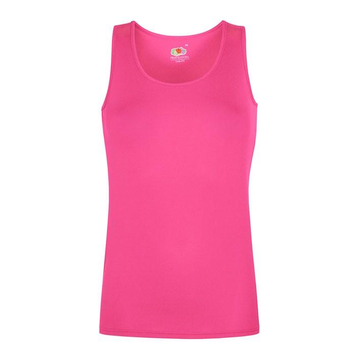 Damen T-Shirt Sport Lady-Fit Vest 61-418-0 - Fuchsia / XXL
