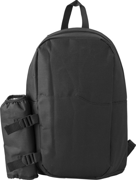 Polyester (600D) cooler backpack - Black