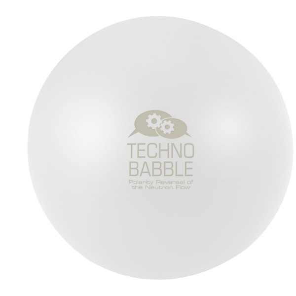 Cool round stress reliever - White