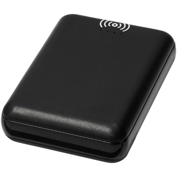 Dense 5000 mAh wireless power bank - Solid black