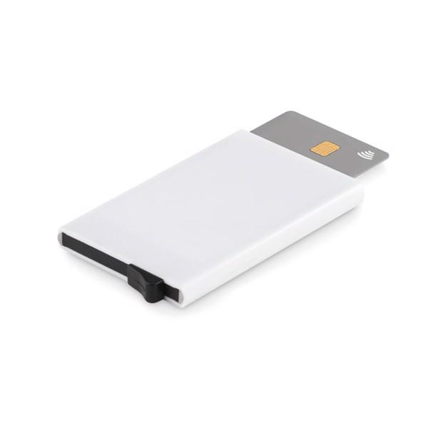 Etui na karty kredytowe z ABS Basicur - biały