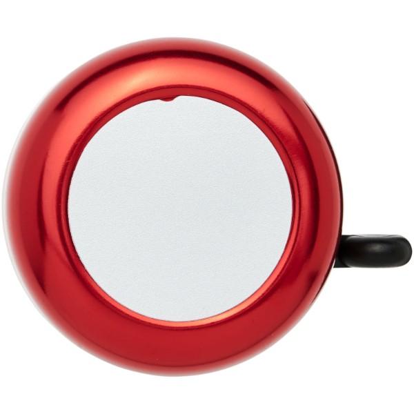Hliníkový zvonek na kolo Tringtring - Červená s efektem námrazy