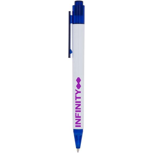 Calypso Kugelschreiber mit weißem Schaft - Blau