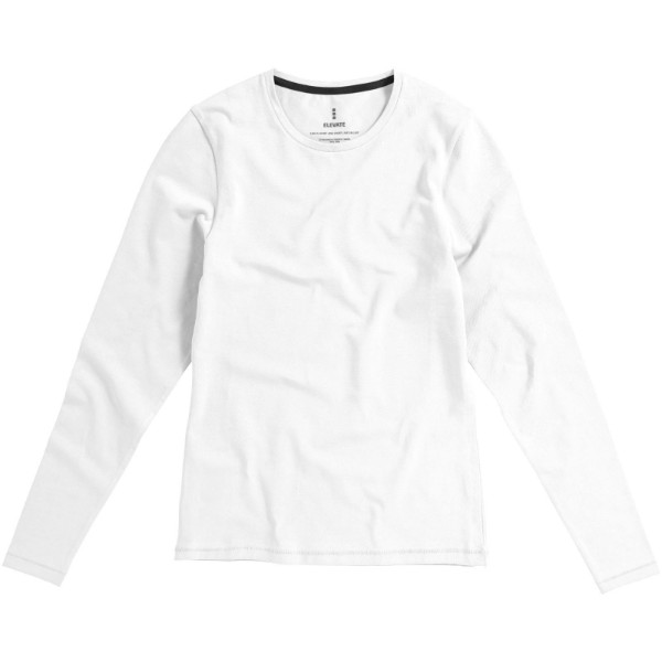 Ponoka long sleeve women's GOTS organic t-shirt - White / L