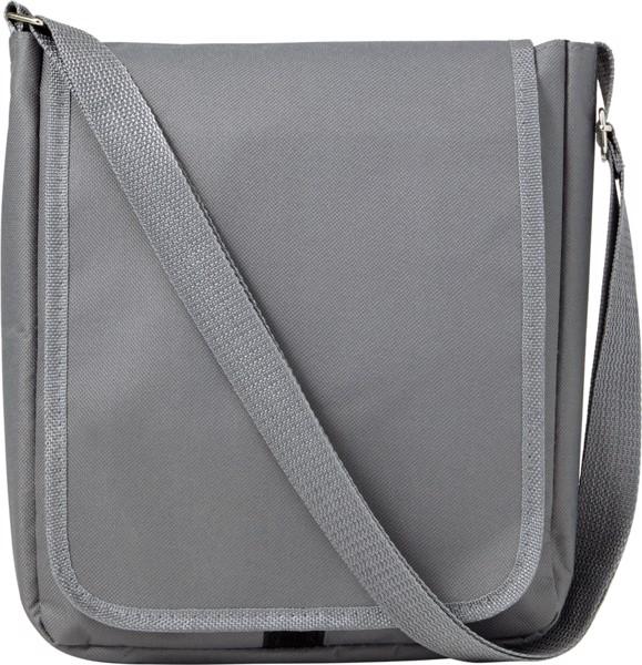 Polyester (190T + 600D) shoulder bag - Grey