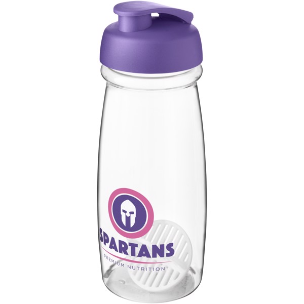 H2O Active Pulse 600 ml shaker bottle - Purple / Transparent