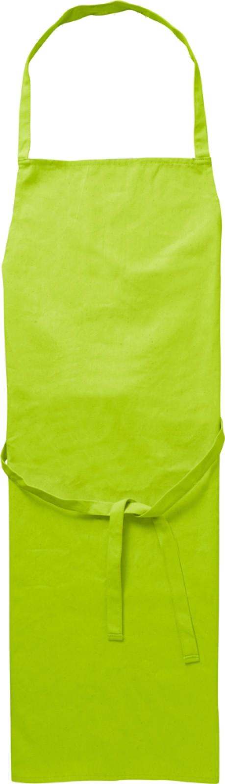 Cotton (180 gr/m²) apron - Lime