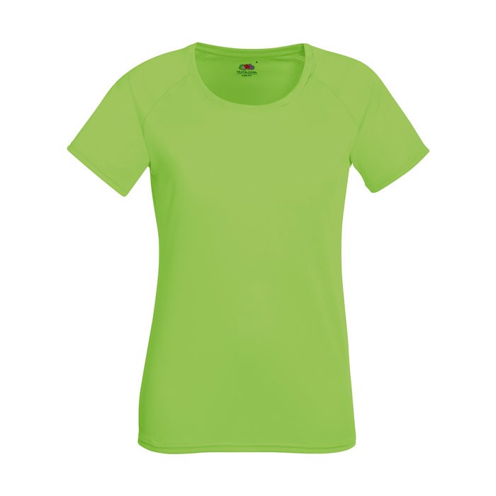 Ladies T-Shirt Sports Lady-Fit Performance 61-392-0 - Lime / S