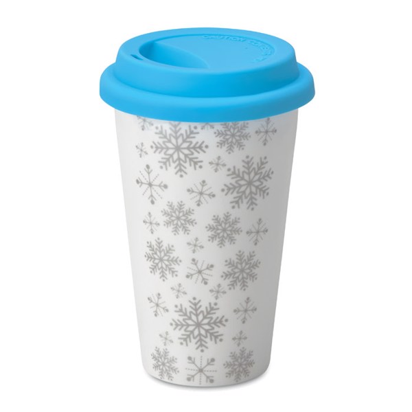 Double wall ceramic travel cup Sondrio