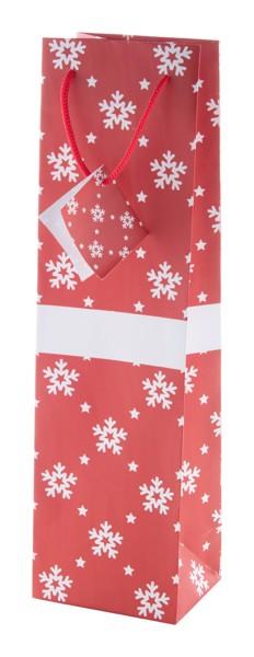 Christmas Gift Bag Palokorpi W, Wine - Red / White