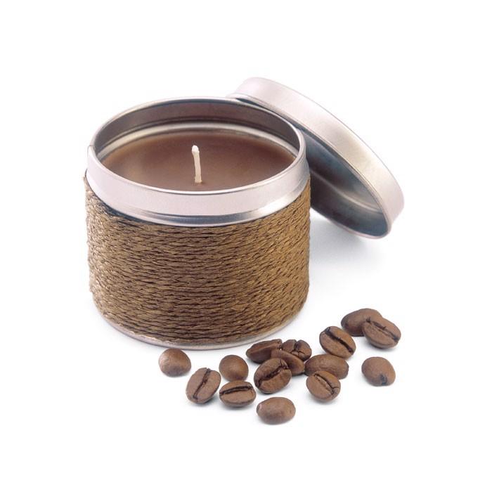 Kerze mit Kaffeeduft Delicious - braun